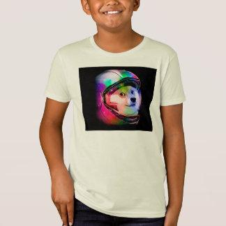 Astronaut-bunter Hund des Doge - T-Shirt