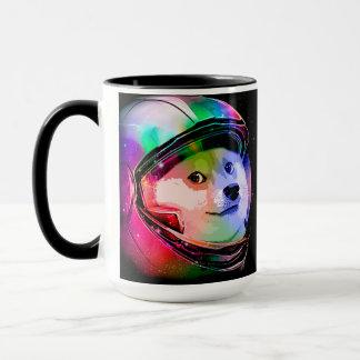 Astronaut-bunter Hund des Doge - Tasse