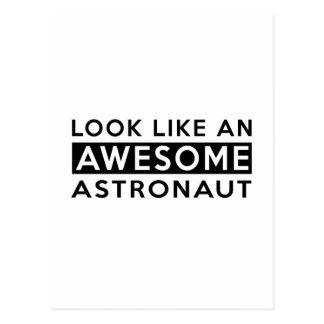 ASTRONAUT Entwürfe Postkarten