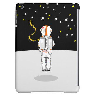 Astronaut gefangenes kurzes Weeing im Raum