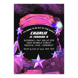 Astronaut in den Raum-Einladungen Karte