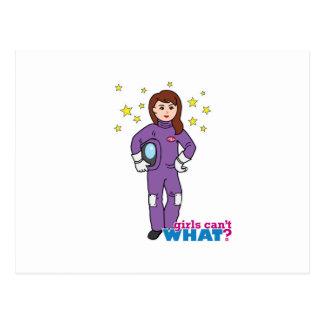 Astronaut-Mädchen 1 Postkarte