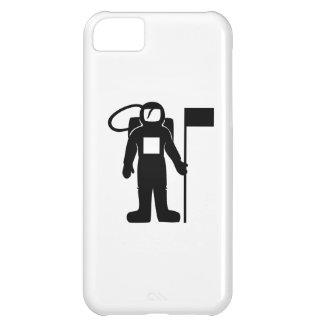 Astronaut mit Flagge Hülle Für iPhone 5C