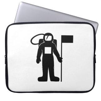 Astronaut mit Flagge Laptop Sleeve Schutzhülle