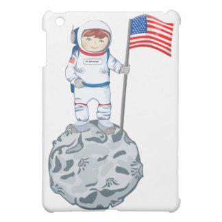 Astronaut mit Namensschild iPad Mini Schale