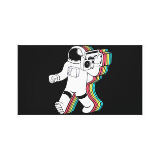 Astronaut Music Leinwanddruck