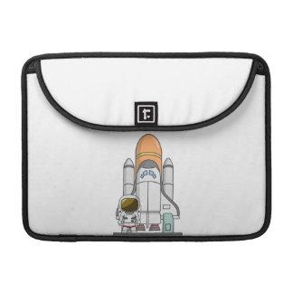 Astronaut u. Raumschiff MacBook Pro Sleeve