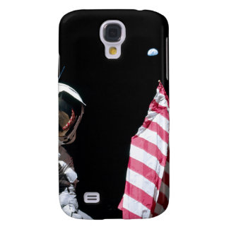 ASTRONAUT, USA-FLAGGE U. ERDE GALAXY S4 HÜLLE