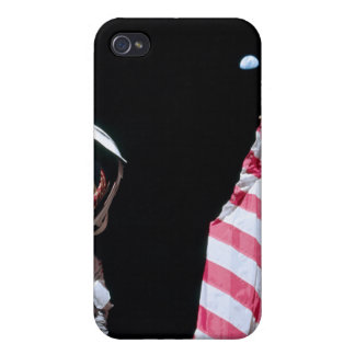 ASTRONAUT USA-FLAGGE U ERDE HÜLLE FÜRS iPhone 4