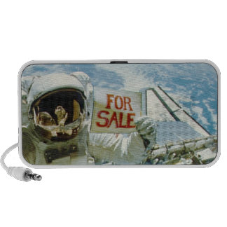 Astronaut verkauft Erde Laptop Lautsprecher