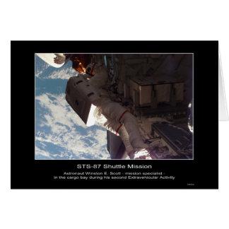 Astronaut Winston E. Scott im Laderaum STS-8 Karte