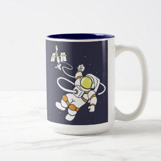 Astronaut Zweifarbige Tasse
