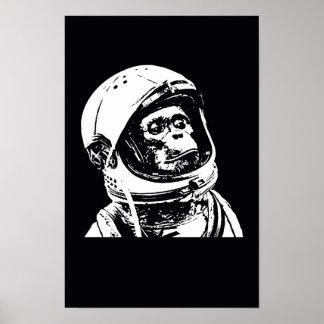 Astronauten-Affe Poster
