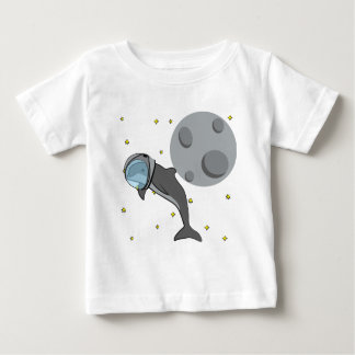 Astronauten-Delphin Baby T-shirt