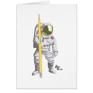 Astronauten-Gruß-Karte Grußkarte