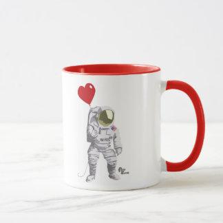 Astronauten-Herz-Tasse Tasse