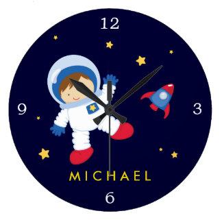 Astronauten-Jungen-Raum themenorientiert Große Wanduhr