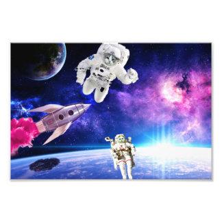 Astronauten-Katzen im Raum übten ihren Traum 1 aus Fotodruck