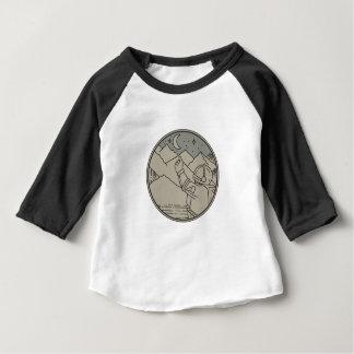 Astronauten-Mond spielt Kreis-Monolinie die Baby T-shirt