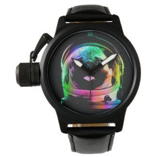 Astronauten-Mops - Galaxie-Mops - Mopsraum - Armbanduhr