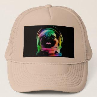 Astronauten-Mops - Galaxie-Mops - Mopsraum - Truckerkappe