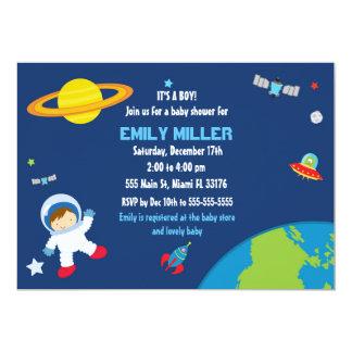 Astronauten-Raum-Babyparty-Einladung Karte