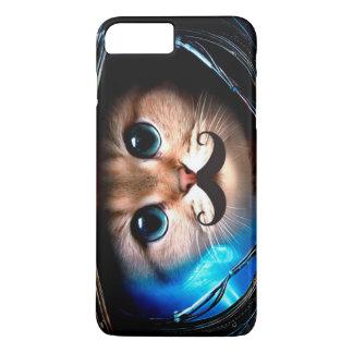 Astronauten-Schnurrbart-Katze iPhone 7 Plus Hülle