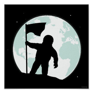 Astronauten-Silhouette Poster