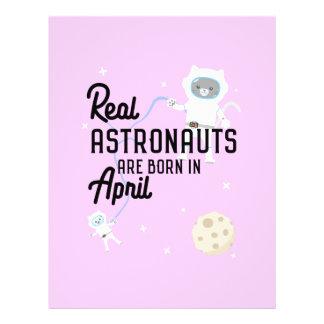Astronauten sind geborene im April Zg6v6 Flyer