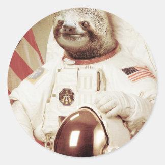 Astronauten-Trägheit Runder Aufkleber