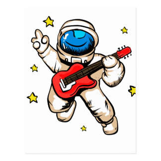 Astronautensieggeste Postkarte