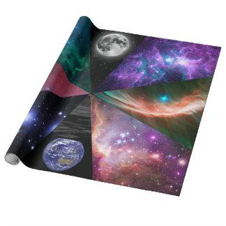 Astronomie-Collage Geschenkpapier