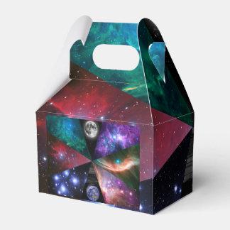 Astronomie-Collage Geschenkschachtel
