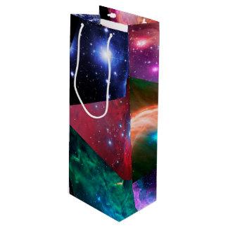 Astronomie-Collage Geschenktüte Für Weinflaschen