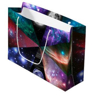 Astronomie-Collage Große Geschenktüte