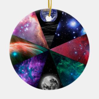 Astronomie-Collage Keramik Ornament