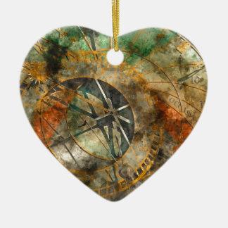 Astronomische Uhr in Prag, Tschechische Republik Keramik Herz-Ornament