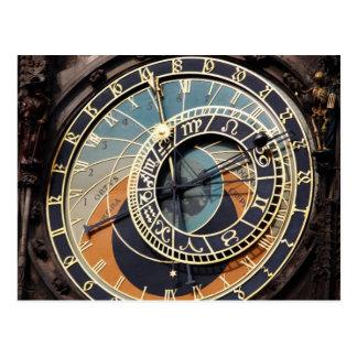Astronomische Uhr in Praque Postkarte