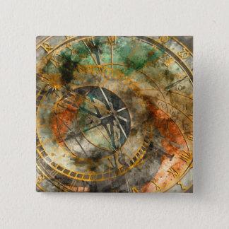 Astronomische Uhr in Tschechischer Republik Prags Quadratischer Button 5,1 Cm