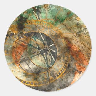 Astronomische Uhr in Tschechischer Republik Prags Runder Aufkleber
