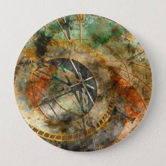 Astronomische Uhr in Tschechischer Republik Prags Runder Button 10,2 Cm