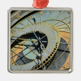 Astronomische Uhr in Tschechischer Republik Prags Silbernes Ornament