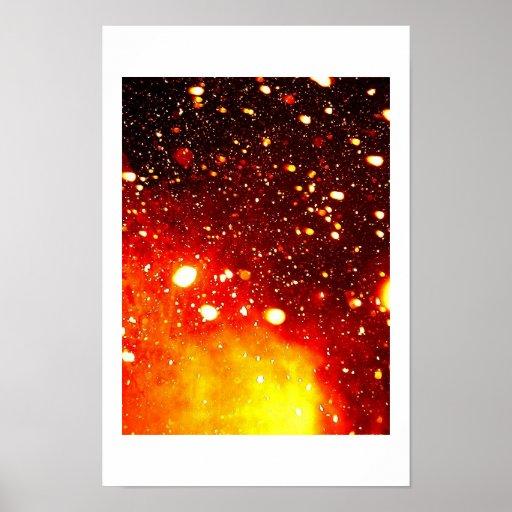 Astrophysikalischer Schnee Plakatdruck