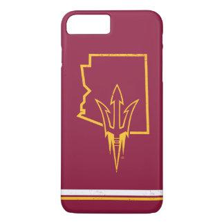 ASU | klassisches Staats-Logo iPhone 8 Plus/7 Plus Hülle