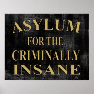 Asyl-Zeichen-Plakat Poster