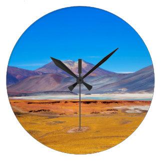 Atacama Salt Lake Große Wanduhr