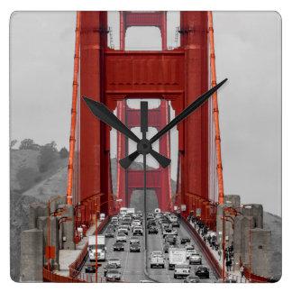 ATEMBERAUBEND! GOLDEN GATE BRIDGE KALIFORNIEN USA QUADRATISCHE WANDUHR