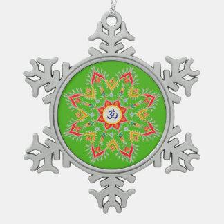 """Atemberaubend, Zinn, """"Sn'owm'flakes"""" Verzierung Schneeflocken Zinn-Ornament"""
