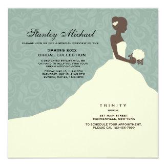 Atemberaubende Braut-Stamm-Show-Einladung Quadratische 13,3 Cm Einladungskarte