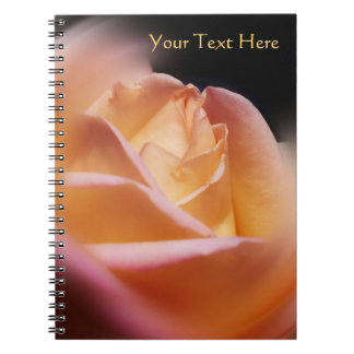 Atemberaubende gelbe Rosenknospe-Blume Spiral Notizblock